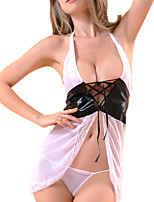 cheap -Women's Suits Nightwear - Lace / Mesh, Color Block / Jacquard