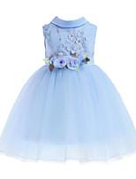 cheap -Kids Girls' Floral / Patchwork Sleeveless Dress