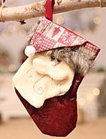 Недорогие -Рождественские чулки Новогодняя тематика Ткань Оригинальные Рождественские украшения