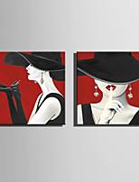 billige -Print Valset lærred Udskriv / Strukket Lærred Print - Mennesker / Moderne Moderne