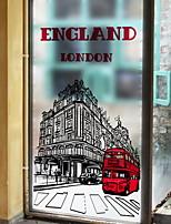 Недорогие -Оконная пленка и наклейки Украшение Обычные Города ПВХ Стикер на окна