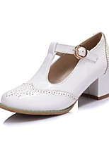 Недорогие -Жен. Комфортная обувь Полиуретан Весна лето Обувь на каблуках На толстом каблуке Белый / Розовый / Миндальный