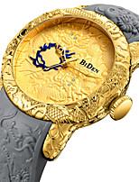 baratos -Homens Relógio Esportivo Relógio de Pulso Japanês Quartzo Japonês 30 m Relógio Casual Legal Silicone Banda Analógico Luxo Fashion Preta / Cinza - Dourado Preto Um ano Ciclo de Vida da Bateria