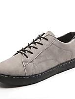 Недорогие -Муж. Комфортная обувь Полиуретан Осень На каждый день Кеды Дышащий Черный / Темно-серый / Светло-серый