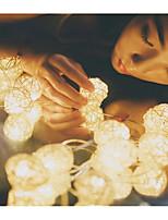 Недорогие -5 метров Гирлянды / Интеллектуальные огни 20 светодиоды Тёплый белый Очаровательный / Новый дизайн / Декоративная 220-240 V 1 комплект