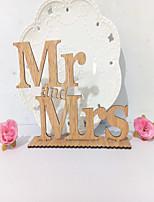 abordables -Déco de Mariage Unique Bois Décorations de Mariage Mariage / Fiançailles Forme de Lettres / Mariage / Gâteau Toutes les Saisons