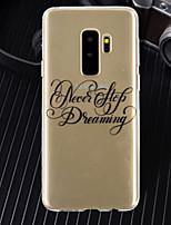 abordables -Coque Pour Samsung Galaxy A8 Plus 2018 / A6+ (2018) Ultrafine / Transparente / Motif Coque Mot / Phrase Flexible TPU pour A5(2018) / A6 (2018) / A6+ (2018)