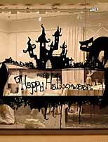 Недорогие -Оконная пленка и наклейки Украшение Современный / Хэллоуин Простой / Праздник ПВХ Cool / Магазин / Кафе