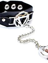 abordables -Homme Le style rétro Bracelets Bagues - Cuir Crâne Large, Punk, Branché Bracelet Noir Pour Halloween Cadeau