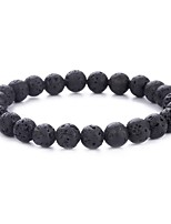 cheap -Men's Volcanic Stone Vintage Style Strand Bracelet - Creative Natural, Fashion Bracelet Black For Daily / Going out