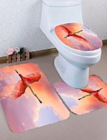 Недорогие -3 предмета Modern Коврики для ванны 100 г / м2 полиэфирный стреч-трикотаж Животное нерегулярный Ванная комната Новый дизайн