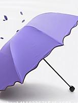 cheap -Fabric / Stainless steel Women's Sunny and Rainy / New Design Folding Umbrella