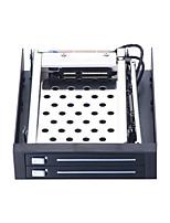 abordables -Unestech Boîtier de disque dur Indicateur LED / Compatible HDD / Installation Facile Acier inoxydable + plastique / Acier Inoxydable ST2522B