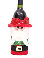 baratos -Sacos e Transportadores de Vinho Natal / Férias Tecido Cubo Festa / Novidades Decoração de Natal