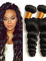 billiga -3 paket Malaysiskt hår Vågigt / Löst vågigt Äkta hår / Obehandlat Mänsligt hår Huvudbonad / Human Hår vävar / Favör för Tebjudningar 8-28 tum Naurlig färg Hårförlängning av äkta hår Maskingjord