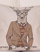 Недорогие -1 штук Хлопок / Лён Наволочка, Животное Европейский стиль