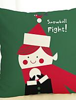 Недорогие -Наволочки Праздник Хлопковая ткань Прямоугольный Для вечеринок / Оригинальные Рождественские украшения
