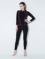 Недорогие -Жен. Спортивные / Классический Танкини Пляжные шорты Однотонный / Контрастных цветов