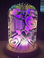 billiga -1st 3D nattlampa USB Ny Design / Förtjusande / Kreativ <=36 V