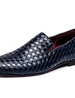 abordables -Homme Chaussures Formal Matière synthétique Automne Décontracté Mocassins et Chaussons+D6148 Preuve de l'usure Noir / Bleu / Vin / Soirée & Evénement