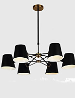 cheap -QIHengZhaoMing 6-Light Chandelier Ambient Light 110-120V / 220-240V, Warm White, Bulb Included