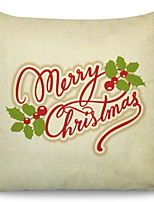 Недорогие -Наволочка Праздник Хлопковая ткань Прямоугольный Для вечеринок / Оригинальные Рождественские украшения