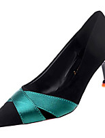 Недорогие -Жен. Балетки Полиуретан Осень На каждый день Обувь на каблуках На шпильке Черный / Бежевый / Контрастных цветов / Повседневные