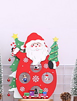 baratos -Ornamentos Natal De madeira Brinquedo dos desenhos animados / Novidades Decoração de Natal