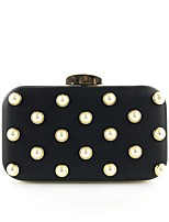 cheap -Women's Bags Polyester / Alloy Evening Bag Buttons / Pearls Floral Print Gold / Black / Silver