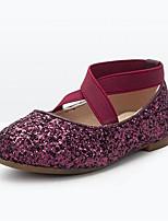 Недорогие -Девочки Обувь Искусственная кожа Весна & осень Удобная обувь На плокой подошве Пайетки для Дети Синий / Винный