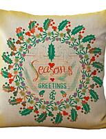 abordables -Housse de coussin Noël Tissu en Coton Carré Nouveautés Décoration de Noël
