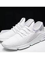 Недорогие -Муж. Комфортная обувь Сетка Лето На каждый день Кеды Белый / Черный