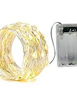 baratos -2m Cordões de Luzes 20 LEDs SMD 0603 Branco Quente / Branco / Vermelho Impermeável / Festa / Decorativa Baterias AA alimentadas 1pç