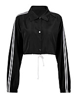 cheap -Women's Basic Jacket - Striped