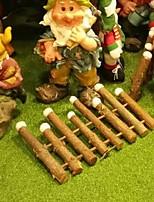 Недорогие -Рождественские украшения Цветы пластик Круглый деревянный Рождественские украшения
