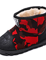 Недорогие -Девочки Обувь Хлопок Наступила зима Зимние сапоги Ботинки Для прогулок для Дети Красный / Зеленый