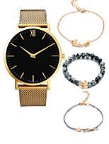 cheap -Men's Women's Dress Watch Wrist Watch Quartz Chronograph Creative New Design Alloy Band Analog Luxury Fashion Black / Silver / Gold - Silvery / White White / Gold Rose Gold / White One Year Battery