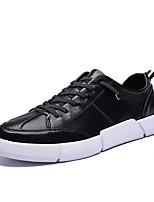 Недорогие -Муж. Комфортная обувь Полиуретан Осень На каждый день Кеды Дышащий Белый / Черный