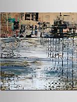 baratos -Pintura a Óleo Pintados à mão - Abstrato Modern Tela de pintura