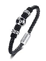 abordables -Homme Tressé Loom Bracelet - Acier au titane, Platiné Balle Original, Branché Bracelet Noir Pour Quotidien Plein Air