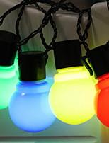abordables -2,5 m Guirlandes Lumineuses 10 LED Blanc Chaud / Blanc / Plusieurs Couleurs Design nouveau / Décorative / Cool Piles AA alimentées