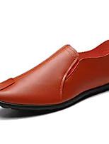 abordables -Homme Chaussures de confort Polyuréthane Automne Mocassins et Chaussons+D6148 Noir / Orange