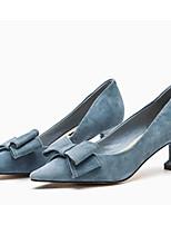 Недорогие -Жен. Комфортная обувь Замша Осень Обувь на каблуках На шпильке Черный / Синий