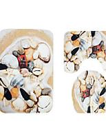 Недорогие -Modern Коврики для ванны 100 г / м2 полиэфирный стреч-трикотаж Креатив нерегулярный