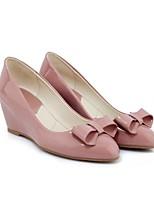abordables -Femme Escarpins Cuir Verni Automne Chaussures à Talons Hauteur de semelle compensée Noir / Rose / Vin