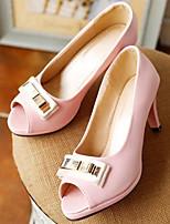 abordables -Femme Chaussures de confort Polyuréthane Eté Chaussures à Talons Talon Aiguille Beige / Bleu / Rose