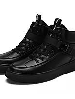Недорогие -Муж. Комфортная обувь Полиуретан Осень На каждый день Кеды Доказательство износа Черный / Черный / Красный