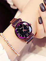 cheap -Women's Wrist Watch Quartz 30 m Water Resistant / Water Proof Stainless Steel Band Analog Casual Fashion Black / Purple - Black Purple