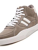 Недорогие -Муж. Комфортная обувь Полиуретан Осень На каждый день Кеды Нескользкий Контрастных цветов Черный / Серый / Красный
