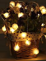 baratos -2,2 m Cordões de Luzes 20 LEDs Branco Quente Adorável Baterias AA alimentadas 1pç